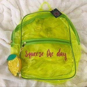 Squeeze the Day Lime Neon Backpack 🍋💚✨